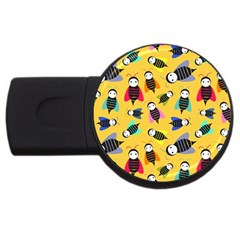 Bees Animal Pattern USB Flash Drive Round (2 GB)