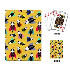 Bees Animal Pattern Playing Card