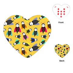 Bees Animal Pattern Playing Cards (Heart)