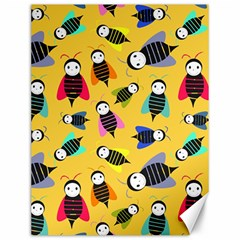 Bees Animal Pattern Canvas 12  x 16