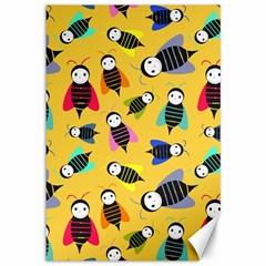 Bees Animal Pattern Canvas 12  x 18