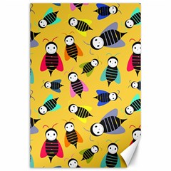 Bees Animal Pattern Canvas 24  X 36