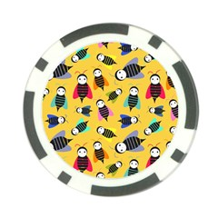 Bees Animal Pattern Poker Chip Card Guard (10 pack)
