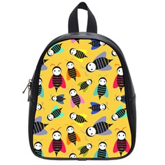 Bees Animal Pattern School Bags (Small)