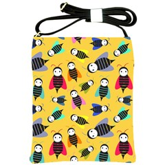 Bees Animal Pattern Shoulder Sling Bags