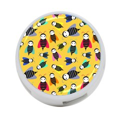 Bees Animal Pattern 4-Port USB Hub (One Side)