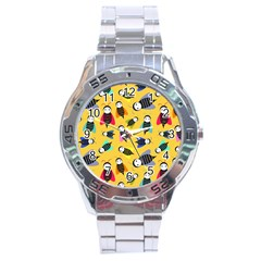 Bees Animal Pattern Stainless Steel Analogue Watch