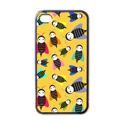Bees Animal Pattern Apple iPhone 4 Case (Black)