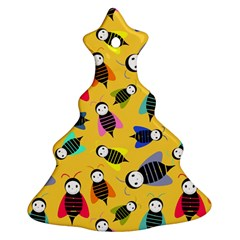 Bees Animal Pattern Christmas Tree Ornament (Two Sides)