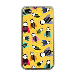 Bees Animal Pattern Apple iPhone 4 Case (Clear)