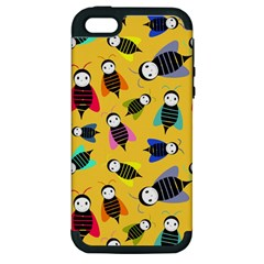 Bees Animal Pattern Apple iPhone 5 Hardshell Case (PC+Silicone)