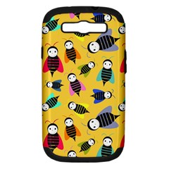 Bees Animal Pattern Samsung Galaxy S Iii Hardshell Case (pc+silicone)