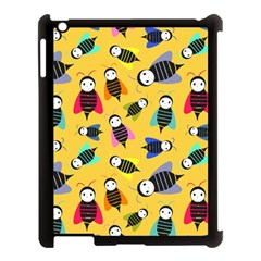 Bees Animal Pattern Apple Ipad 3/4 Case (black)