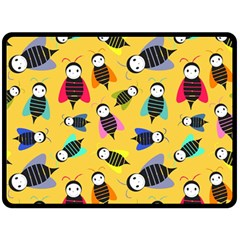 Bees Animal Pattern Double Sided Fleece Blanket (large)