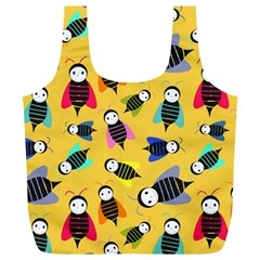 Bees Animal Pattern Full Print Recycle Bags (L)