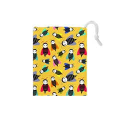 Bees Animal Pattern Drawstring Pouches (Small)