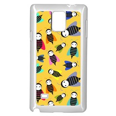 Bees Animal Pattern Samsung Galaxy Note 4 Case (white)