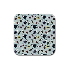 Bees Animal Pattern Rubber Square Coaster (4 pack)