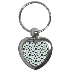 Bees Animal Pattern Key Chains (heart)