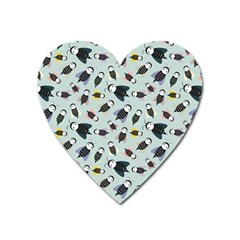 Bees Animal Pattern Heart Magnet
