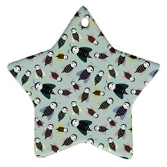 Bees Animal Pattern Star Ornament (Two Sides)