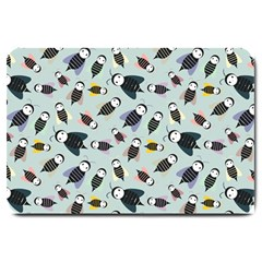 Bees Animal Pattern Large Doormat