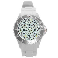 Bees Animal Pattern Round Plastic Sport Watch (L)