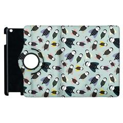 Bees Animal Pattern Apple iPad 3/4 Flip 360 Case