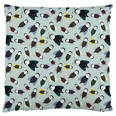 Bees Animal Pattern Large Flano Cushion Case (One Side)