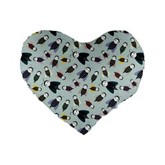 Bees Animal Pattern Standard 16  Premium Flano Heart Shape Cushions