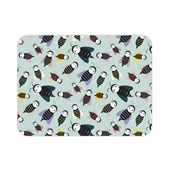 Bees Animal Pattern Double Sided Flano Blanket (Mini)