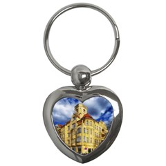 Berlin Friednau Germany Building Key Chains (heart)