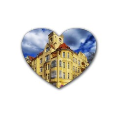 Berlin Friednau Germany Building Rubber Coaster (Heart)