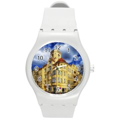 Berlin Friednau Germany Building Round Plastic Sport Watch (M)