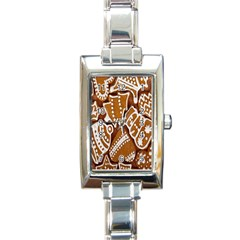 Biscuit Brown Christmas Cookie Rectangle Italian Charm Watch