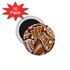 Biscuit Brown Christmas Cookie 1.75  Magnets (10 pack)