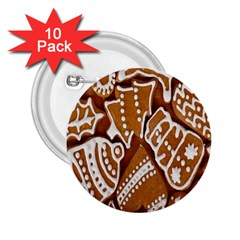 Biscuit Brown Christmas Cookie 2.25  Buttons (10 pack)