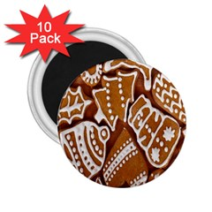 Biscuit Brown Christmas Cookie 2.25  Magnets (10 pack)