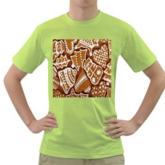 Biscuit Brown Christmas Cookie Green T-Shirt