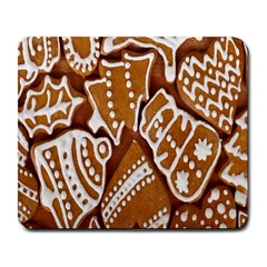Biscuit Brown Christmas Cookie Large Mousepads