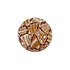 Biscuit Brown Christmas Cookie Golf Ball Marker (10 Pack)