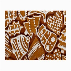 Biscuit Brown Christmas Cookie Small Glasses Cloth