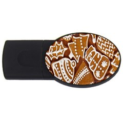 Biscuit Brown Christmas Cookie USB Flash Drive Oval (4 GB)