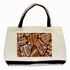 Biscuit Brown Christmas Cookie Basic Tote Bag
