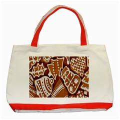 Biscuit Brown Christmas Cookie Classic Tote Bag (red)