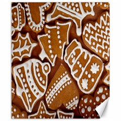 Biscuit Brown Christmas Cookie Canvas 8  x 10