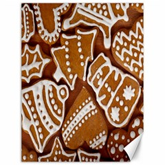 Biscuit Brown Christmas Cookie Canvas 12  x 16