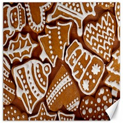 Biscuit Brown Christmas Cookie Canvas 16  x 16