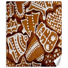 Biscuit Brown Christmas Cookie Canvas 20  x 24