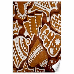 Biscuit Brown Christmas Cookie Canvas 24  x 36